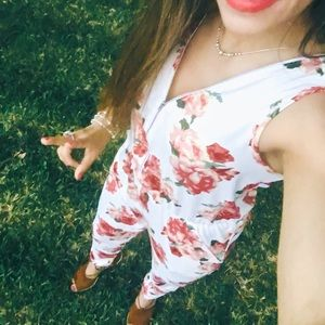 Cherry on Top Pants - Floral Romper